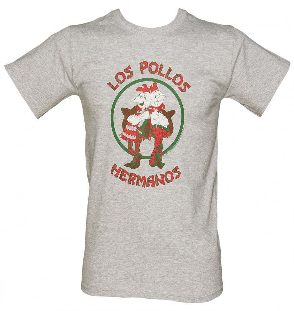 Men's Grey Marl Los Pollos Hermanos Breaking Bad T-Shirt